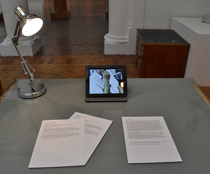 art proposal video artwork spaces inbetween spontaneous prose samuel beckett jack kerourac magnification abstract video